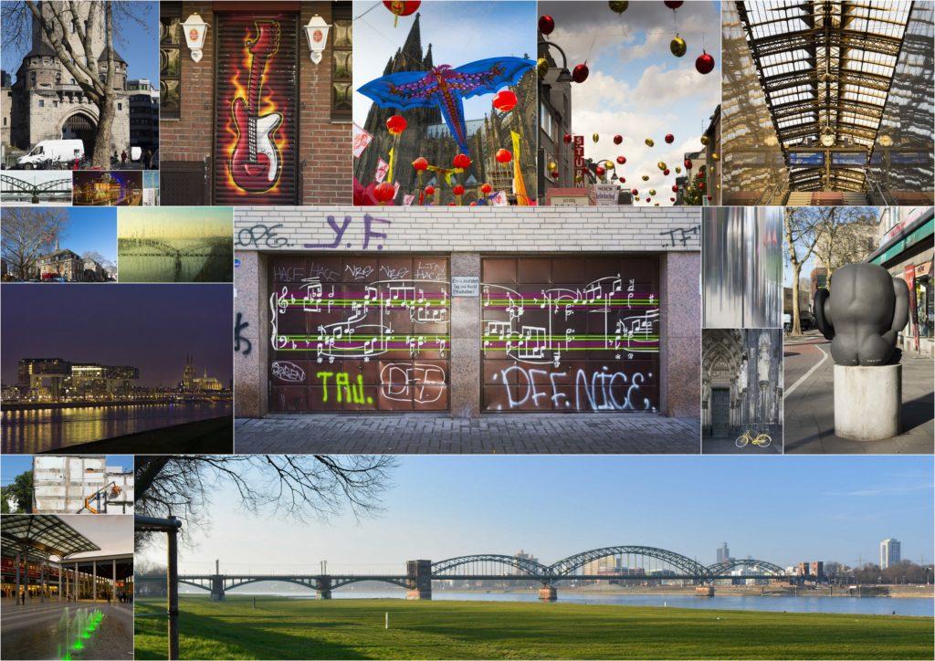 Collage mit den Bildern der Hinterhofsalon-Ausstellung.