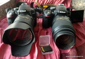 Meine zwei Nikon D5300 und eine SD-Karte