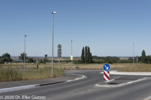 Verkehrsführung am Kreisel