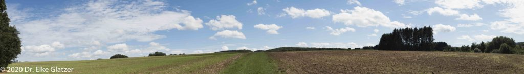 Felder bis zum Horizont, ein freier Blick - Spätsommer in der Eifel
